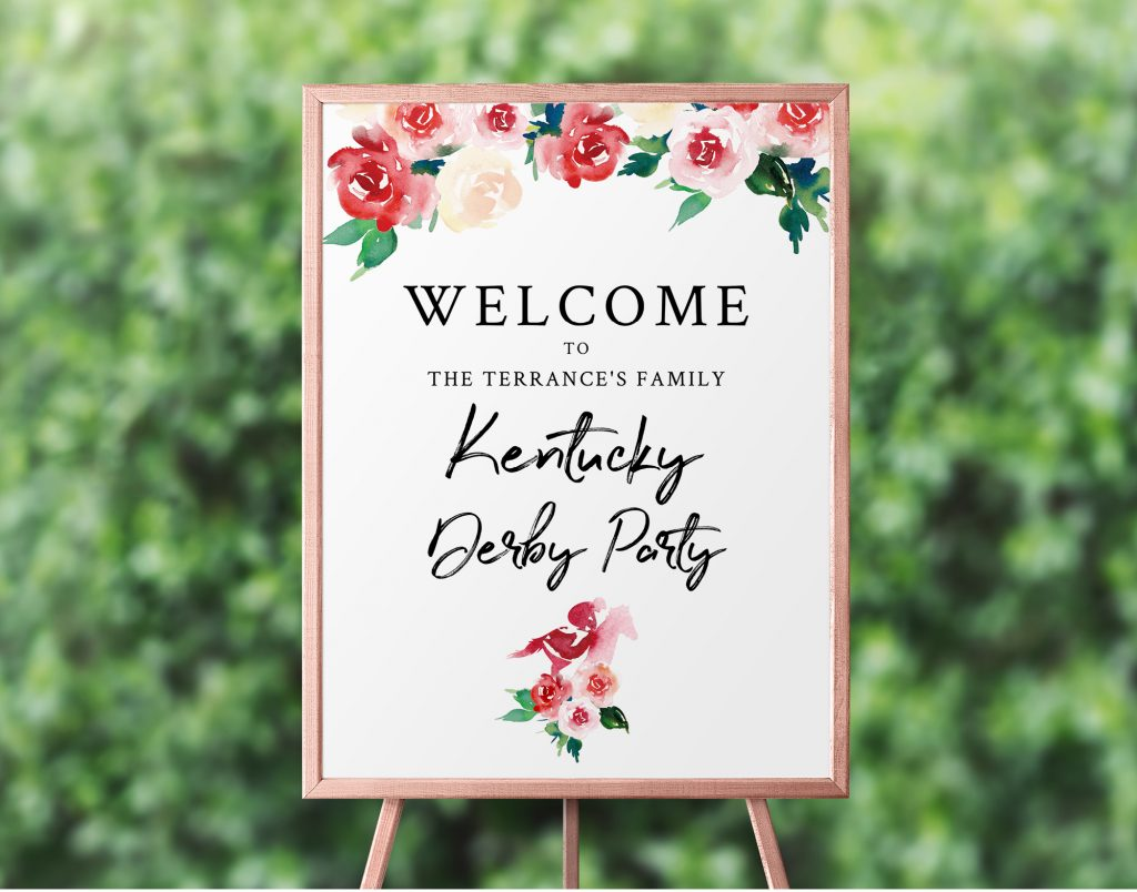 kentucky derby welcome sign