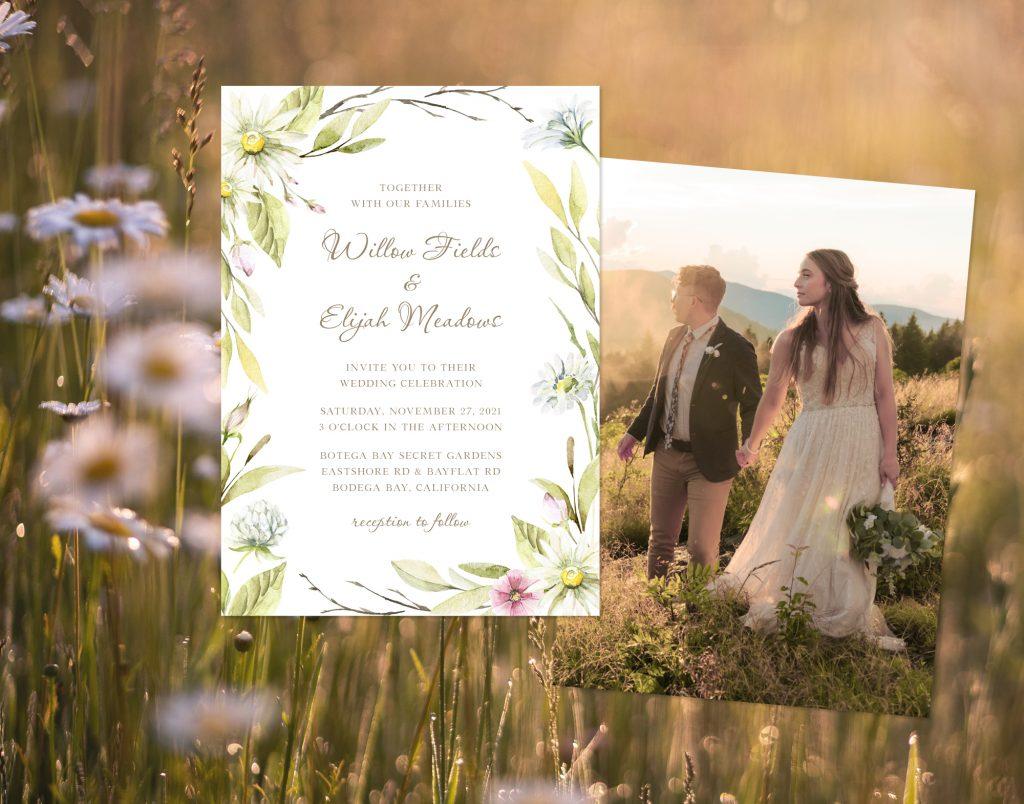 COTTAGECORE WEDDING INVITATION