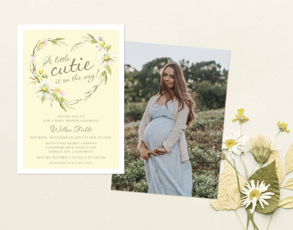 COTTAGECORE BABY SHOWER INVITATION